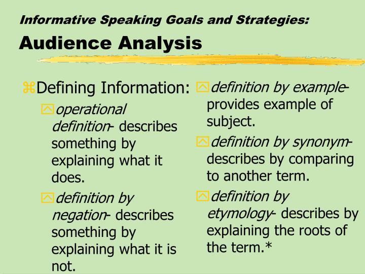 Defining Information: