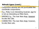 adverb types cont