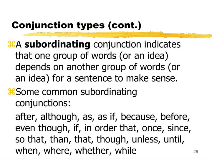 Conjunction types (cont.)