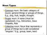 noun types