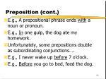 preposition cont