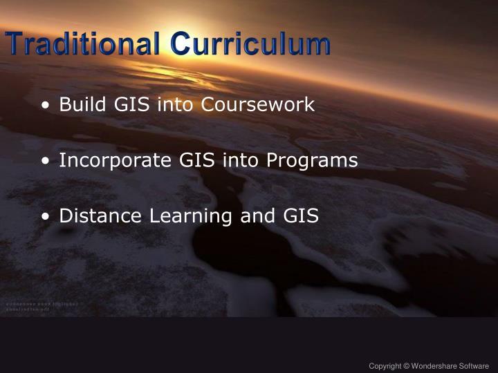 Traditional Curriculum