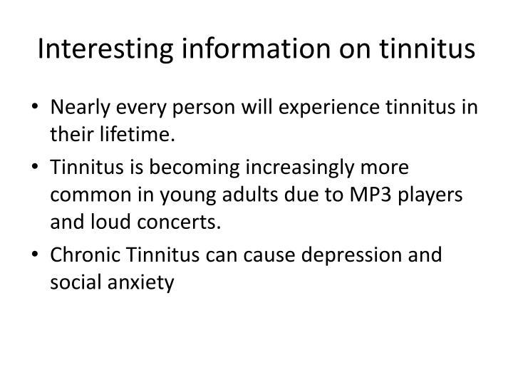Prevalence and Characteristics of Tinnitus among