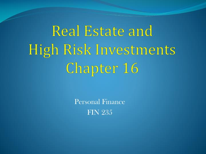 risk in real estate Real estate investing involves the purchase, ownership, management, rental and/or sale of real estate for profit this increases transactional risk.