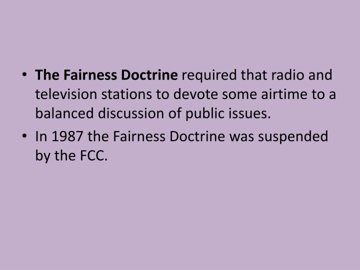 The Fairness Doctrine