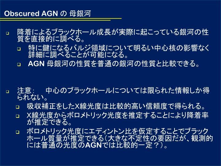 Obscured AGN