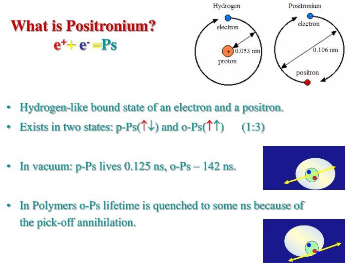 What is Positronium?