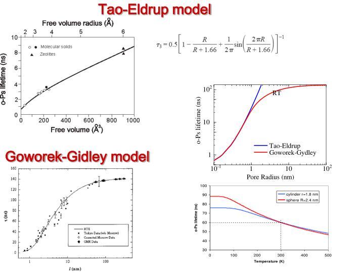 Tao-Eldrup model