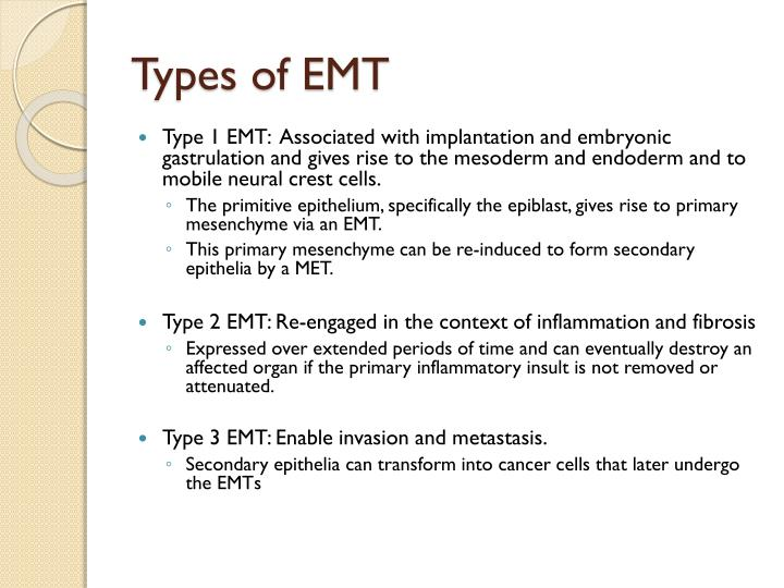 Types of EMT