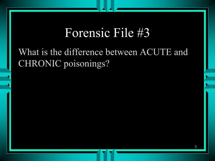 Forensic File #3