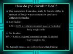 how do you calculate bac