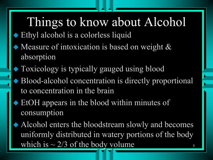 Things to know about Alcohol