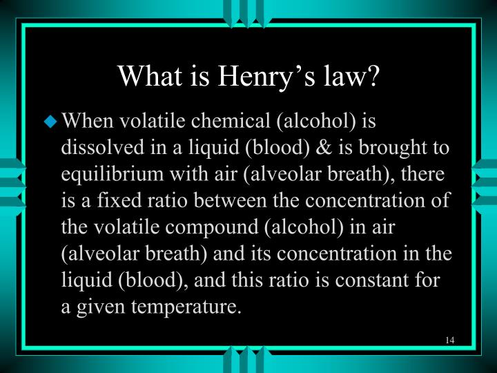 What is Henry's law?