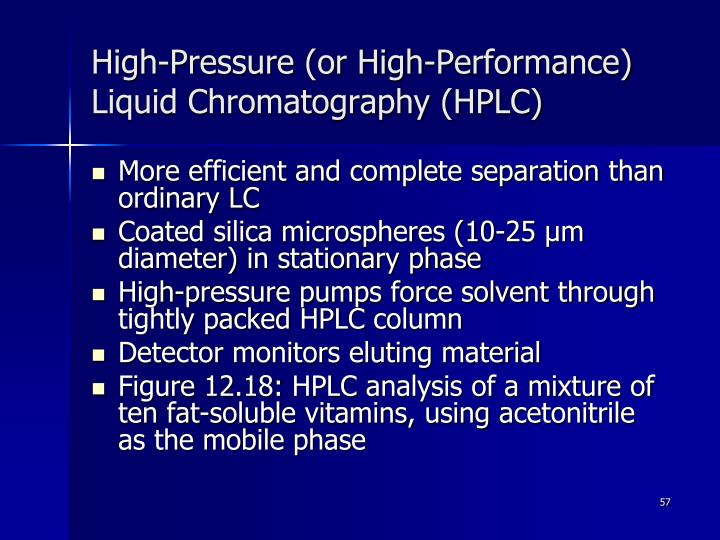 High-Pressure (or High-Performance) Liquid Chromatography (HPLC)
