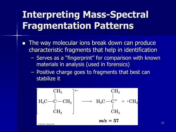 Interpreting Mass-Spectral Fragmentation Patterns