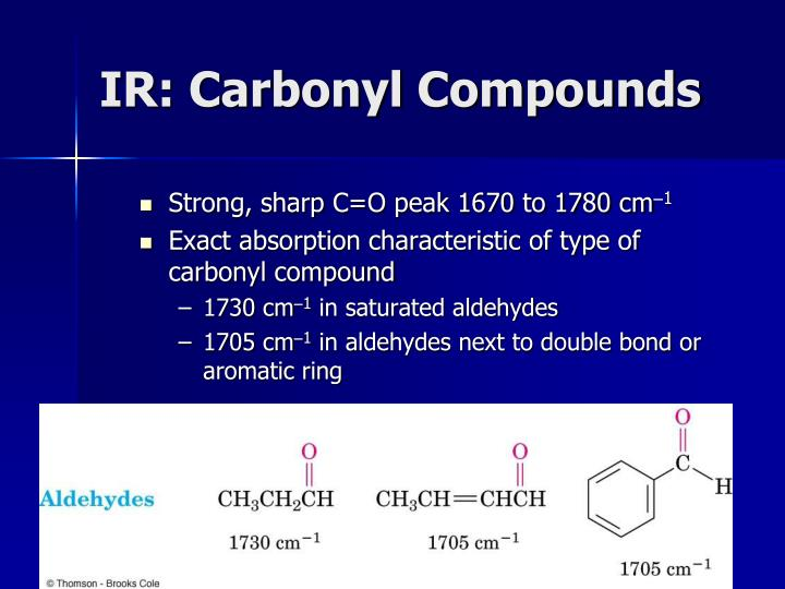 IR: Carbonyl Compounds