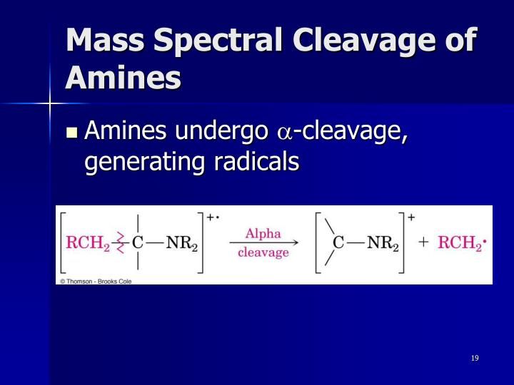Mass Spectral Cleavage of Amines