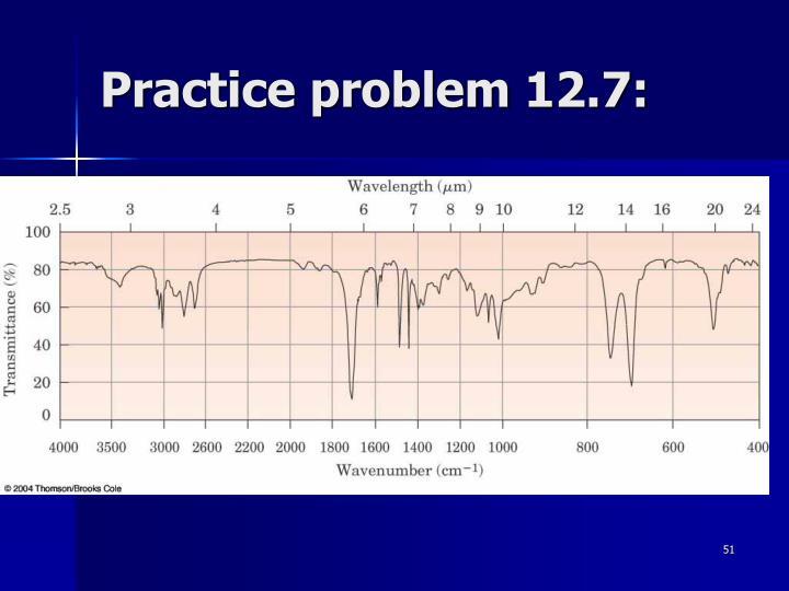 Practice problem 12.7: