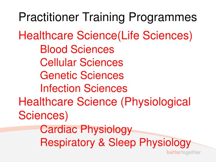 Practitioner Training Programmes