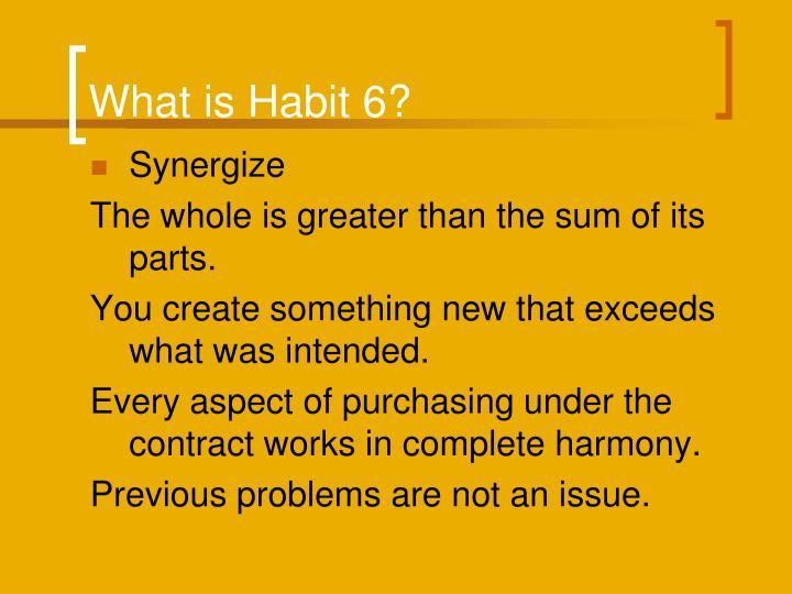 What is Habit 6?