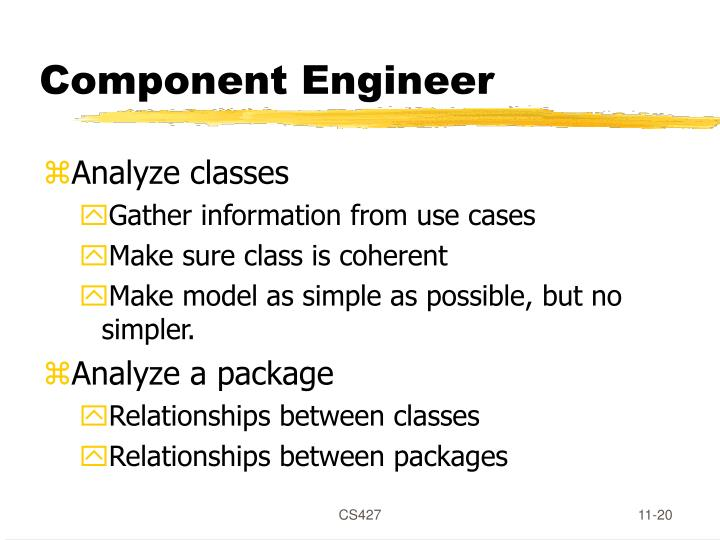 Component Engineer