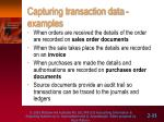 capturing transaction data examples