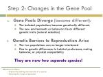 step 2 changes in the gene pool