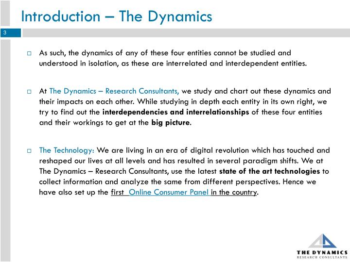 Introduction the dynamics1