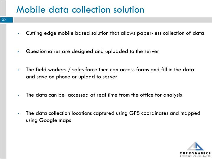 Mobile data collection solution