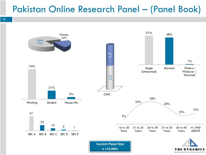 Pakistan Online Research Panel – (Panel Book)
