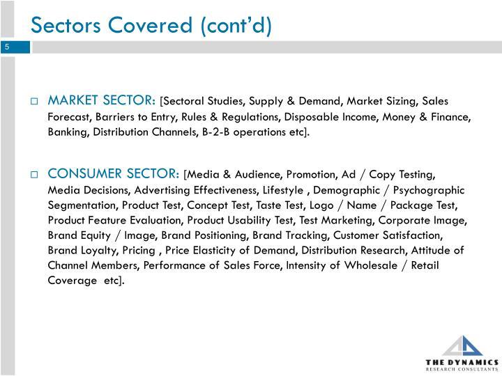 Sectors Covered (cont'd)