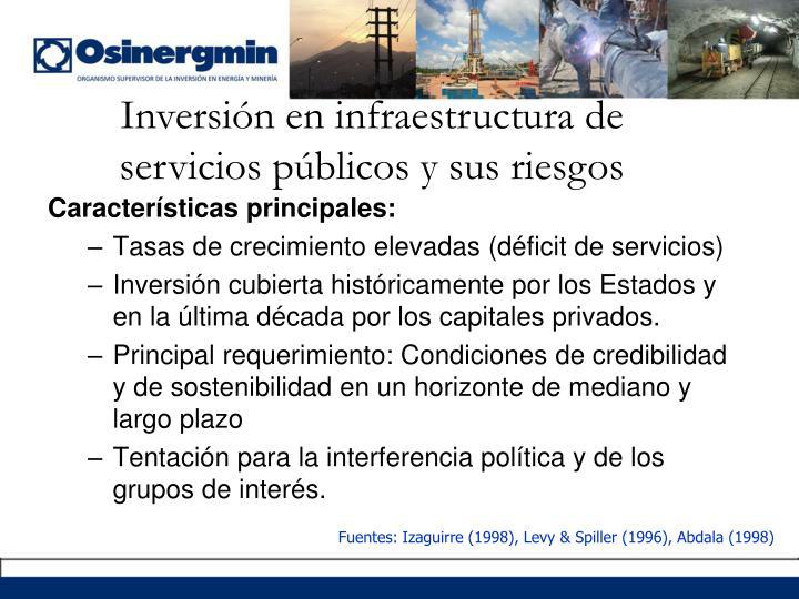 Inversión en infraestructura de