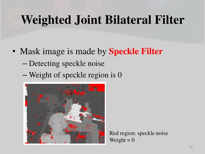 Weighted Joint Bilateral Filter