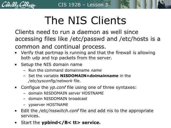 The NIS Clients