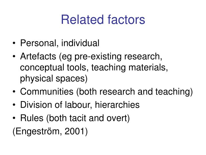 Related factors