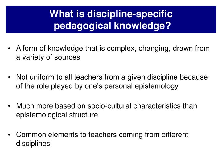 What is discipline-specific