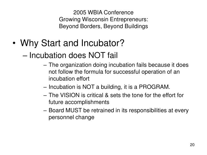 2005 WBIA Conference