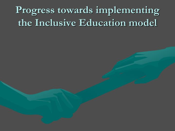 implementing inclusion in schools Brief on systemic barriers to implementing inclusive education in new brunswick new brunswick association for community living/association du.
