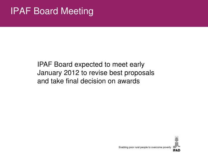 IPAF Board Meeting