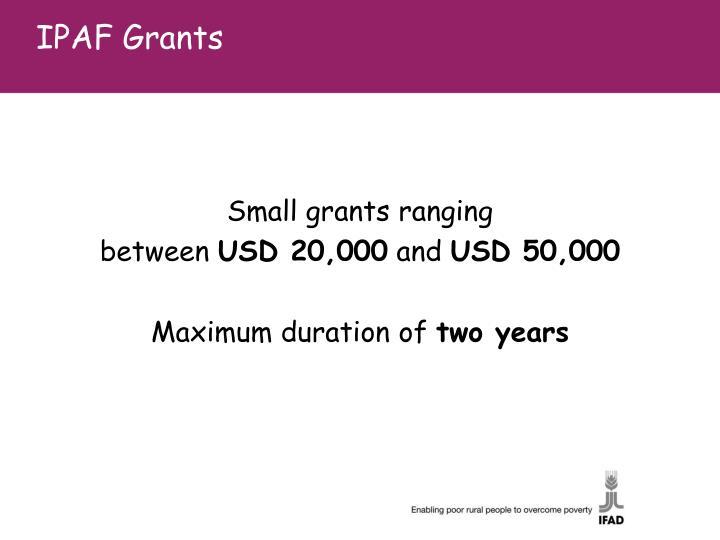 IPAF Grants