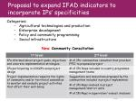 proposal to expand ifad indicators to incorporate ips specificities