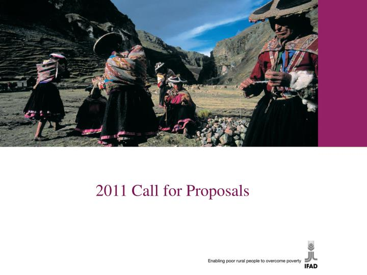 2011 Call for Proposals
