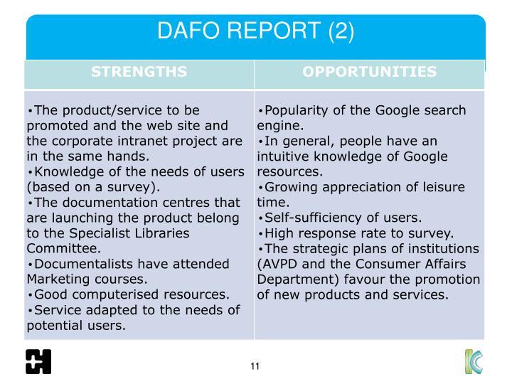 DAFO REPORT (2)