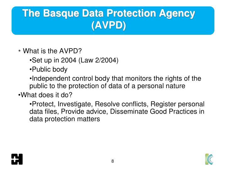 The Basque Data Protection Agency (AVPD)
