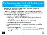 the documentation centre of the consumer affairs directorate