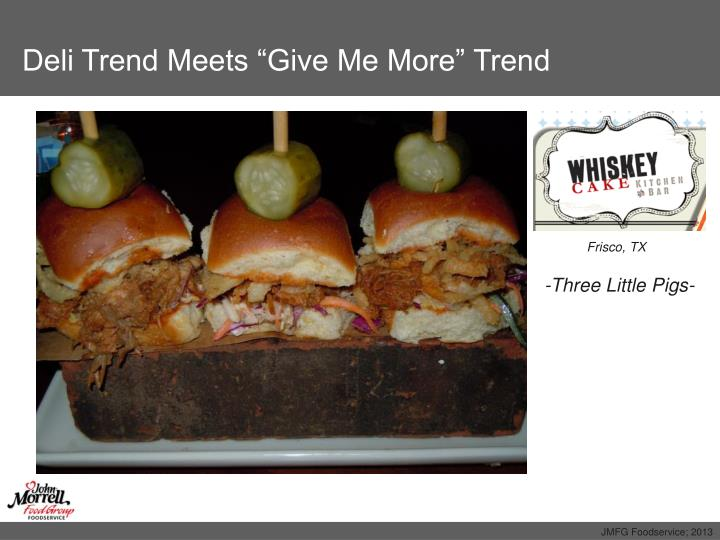 "Deli Trend Meets ""Give Me More"" Trend"