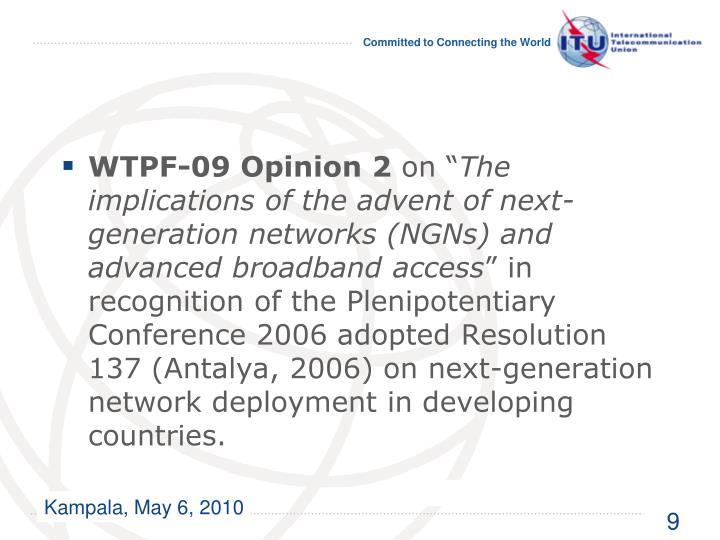 WTPF-09 Opinion 2