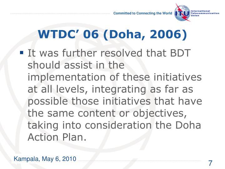 WTDC' 06 (Doha, 2006)