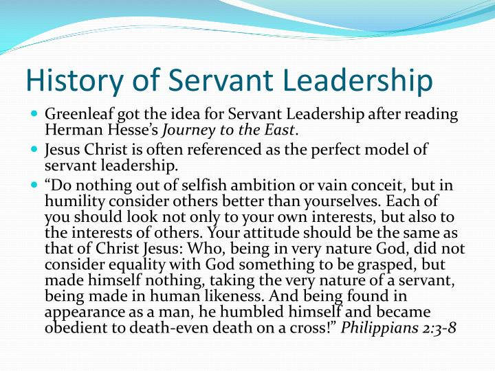 History of Servant Leadership