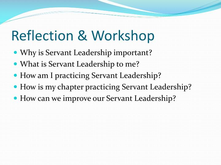 Reflection & Workshop